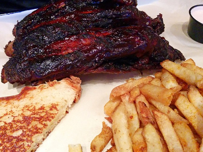 Iron Pig's beef ribs