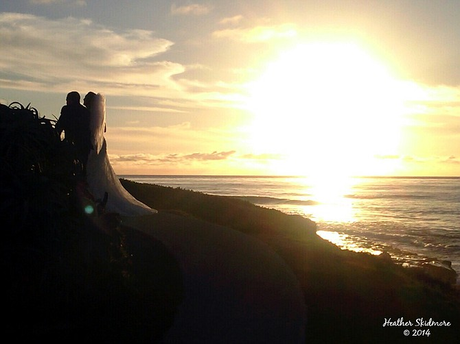 Walking off into the sunset...happily ever after.
