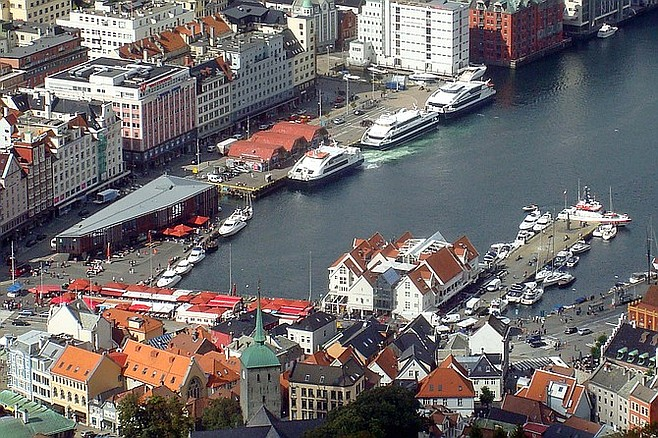 Bird's eye view of Bergen.