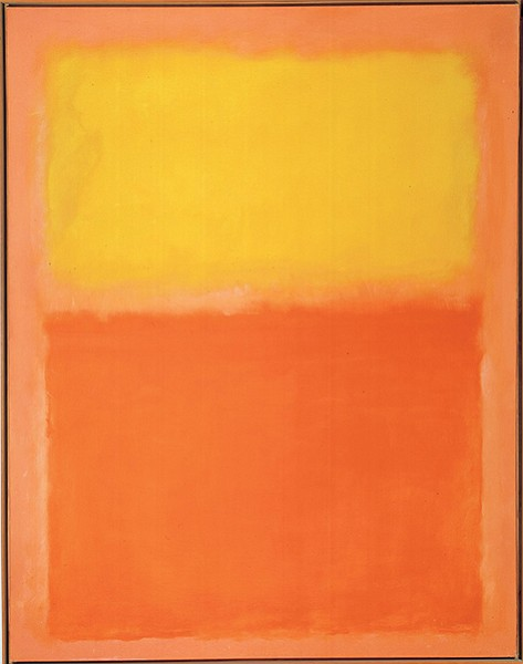 """Mark Rothko's Orange and Yellow is an argument  against """"orange"""" and """"yellow."""""""