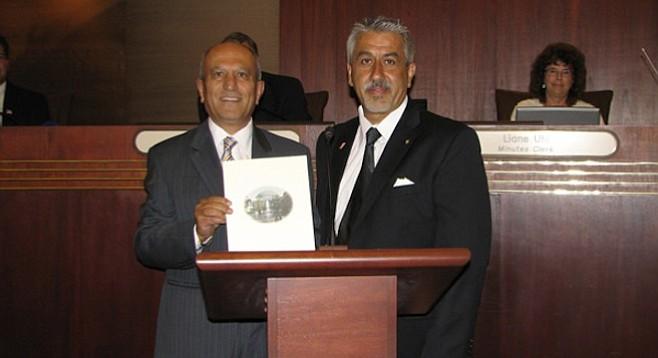 Escondido mayor Sam Abed and Amir Iravani
