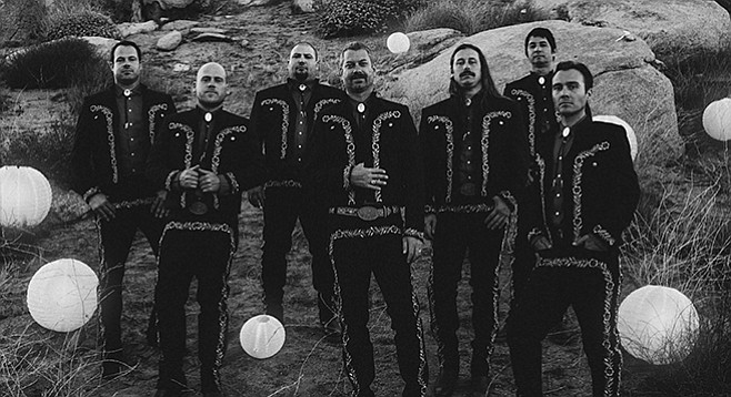 Punkers the Bronx get their guitarrón on in Mariachi El Bronx, in town Friday night.