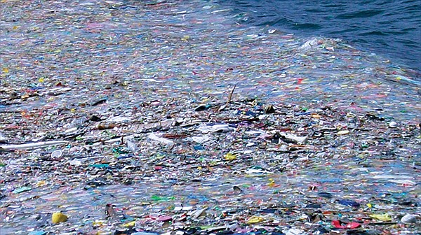A minuscule portion of the northern Pacific garbage patch