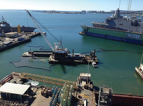 Ongoing dredging in San Diego Bay to remove copper (from boat-hull paint), mercury, pesticides, zinc, PCBs, trash (especially cigarette butts and plastic), and pathogens