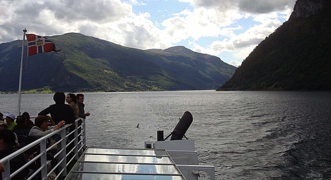 Classic Norway fjord view.