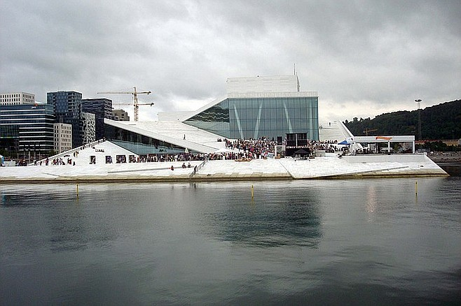 Oslo Opera House. Where else can you walk on the roof?