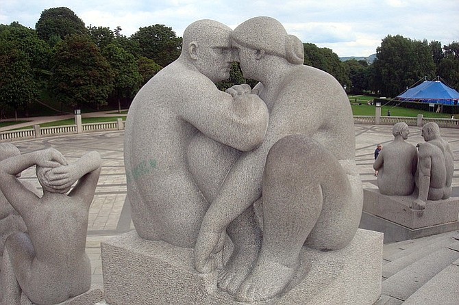 At the Vigeland Statue Park.