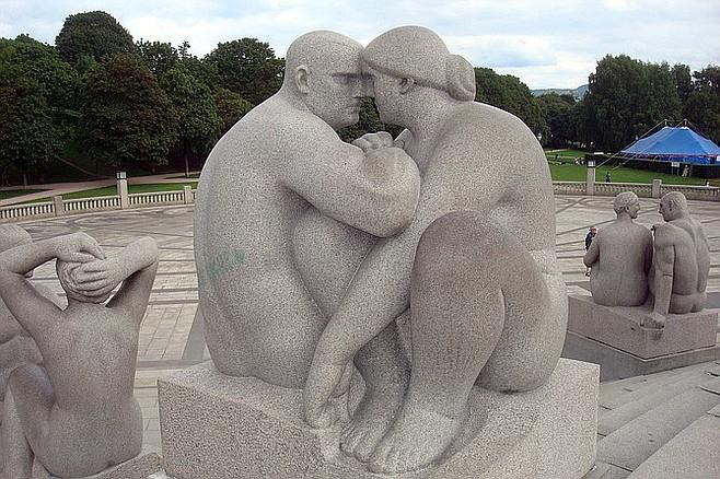 At the Vigeland Statue Park.