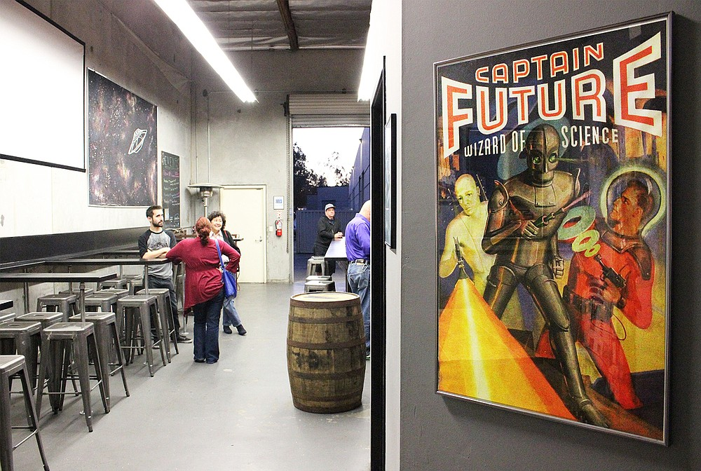 Sci-fi movie posters make for a fun motif at Intergalactic Brewing Company's tasting room