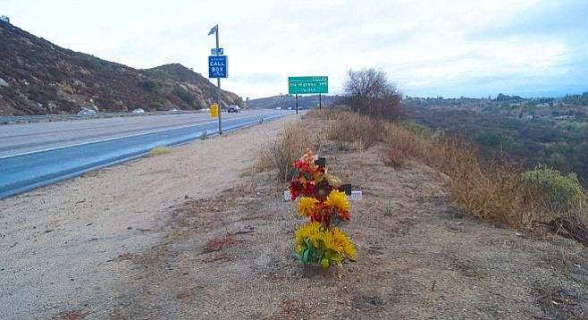 Edge of freeway 15 in North County San Diego. Photo by Weatherston