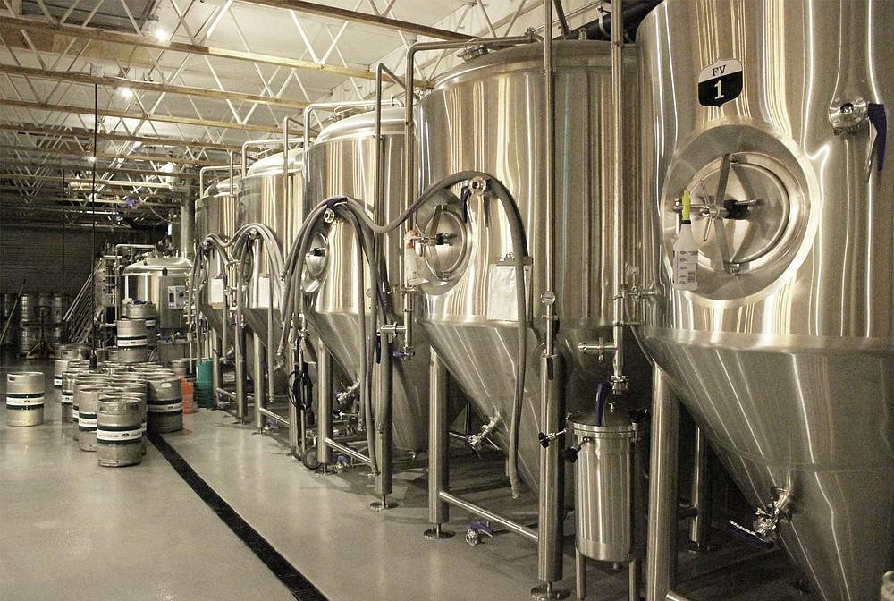 Fermentation tanks at Fall Brewing Company