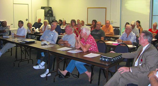 At the July 21 meeting (Tom Calhoun, far right)