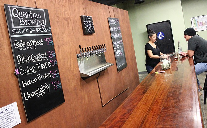 The tasting room at Quantum Brewery in Kearny Mesa - Image by @sdbeernews