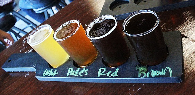 A taster set from San Diego's Quantum Brewing
