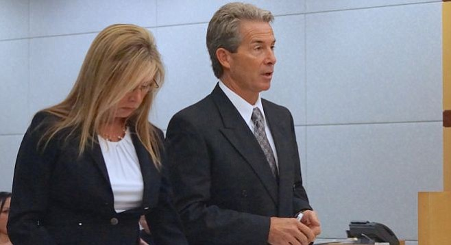 Susan and Michael Curran expected back in court in a couple weeks. Photo by Eva