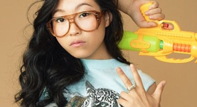 Hip-hop comic Awkwafina has the mic at the Loft Saturday night.