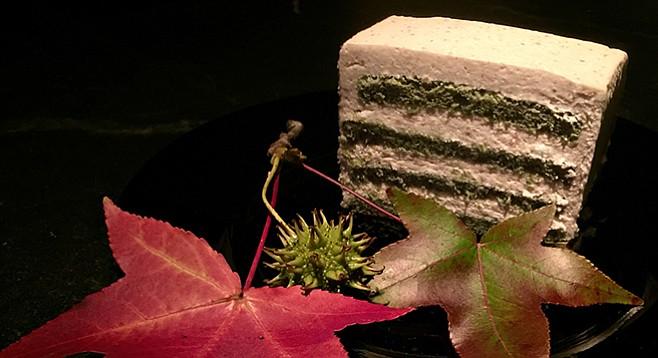 Green tea and chestnut cake