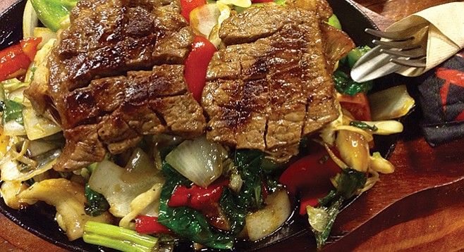 My sizzling beef steak skillet