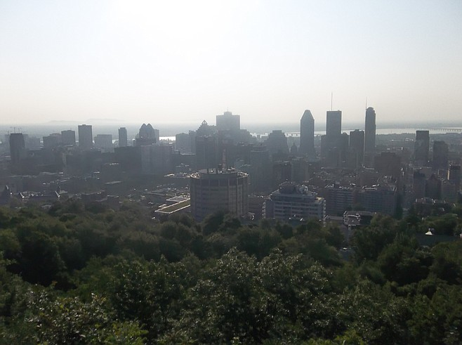 View from the top of Mount Royal.