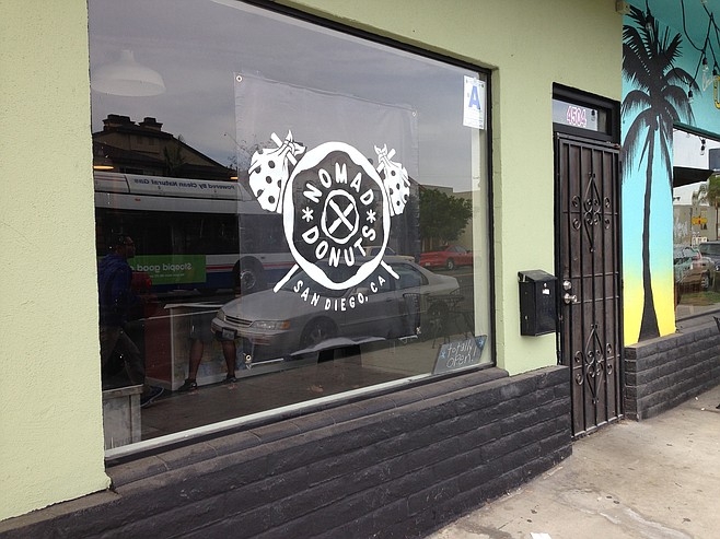 The North side of North Park continues to grow new businesses. Nomad Donuts.