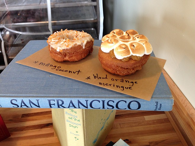 Mango Coconut and Blood Orange Merenge. Nomad Donuts.