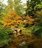 James Henry Dooley's Japanese Garden at the Maymont Estate in Richmond, Virginia. Early October 2014. ...