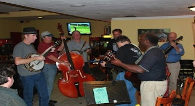 Bluegrass night at Today's pizzeria