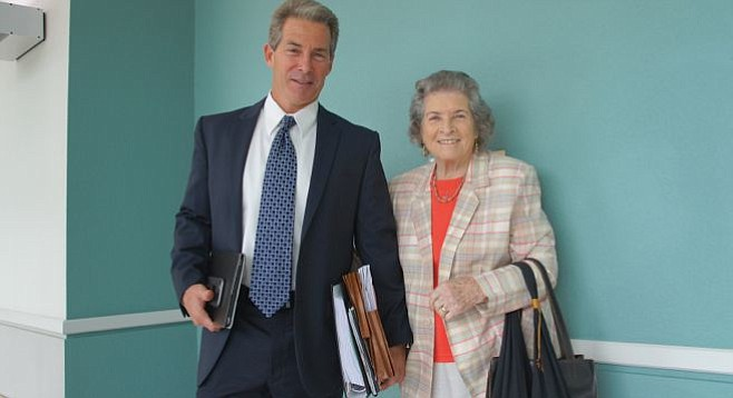 Attorney Michael Curran and Lurlie Adams