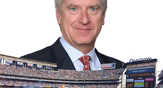 New Chargers stadium super-booster Mark Fabiani likely not interested in what Qualcomm GM Mike McSweeney has to say.