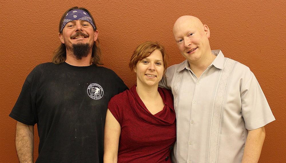 Kilowatt Brewing Company co-owners Chris Calva, Rachel Fischer, and Steve Kozyk