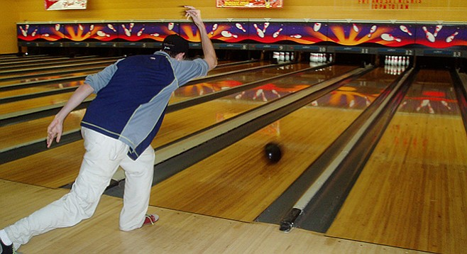 One of the common injuries incurred while ten-pin bowling? Tennis elbow.