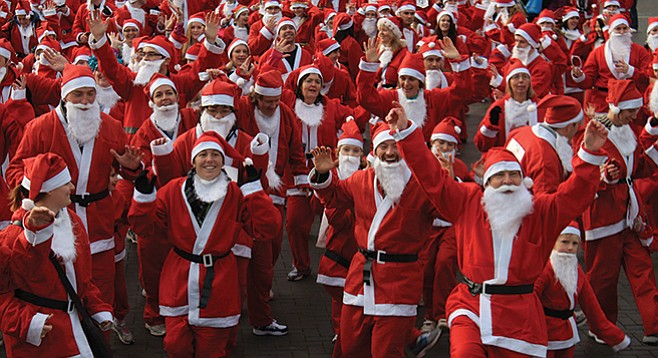 Suit up as Santa on Sunday for a 5K walk/jog at Pacific Beach