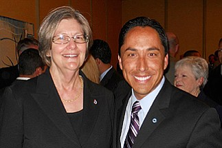 Sherri Lightner and Todd GLoria