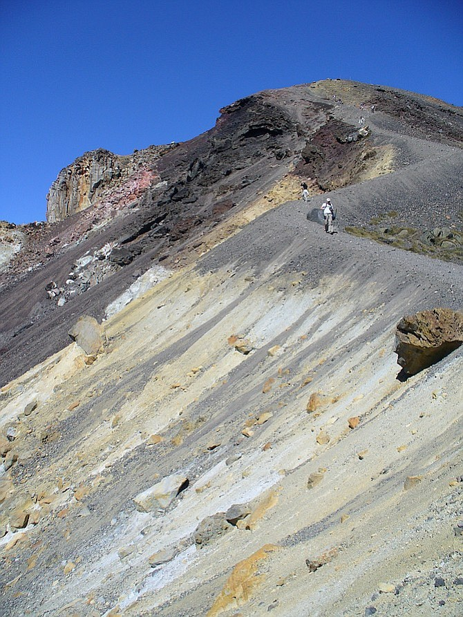 Heading down from Red Crater.