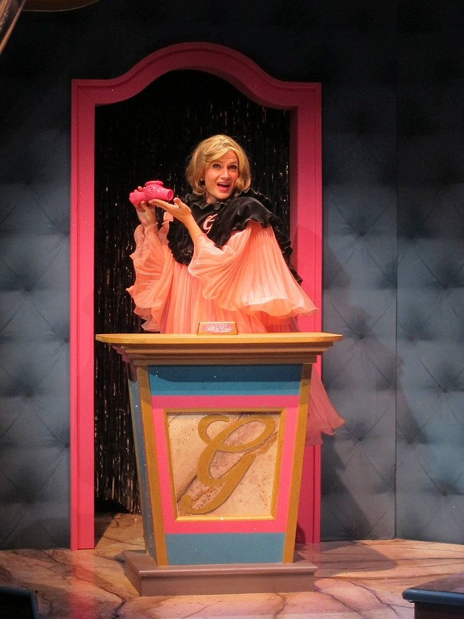 David McBean as Miss South in Cygnet Theater's production of Pageant.