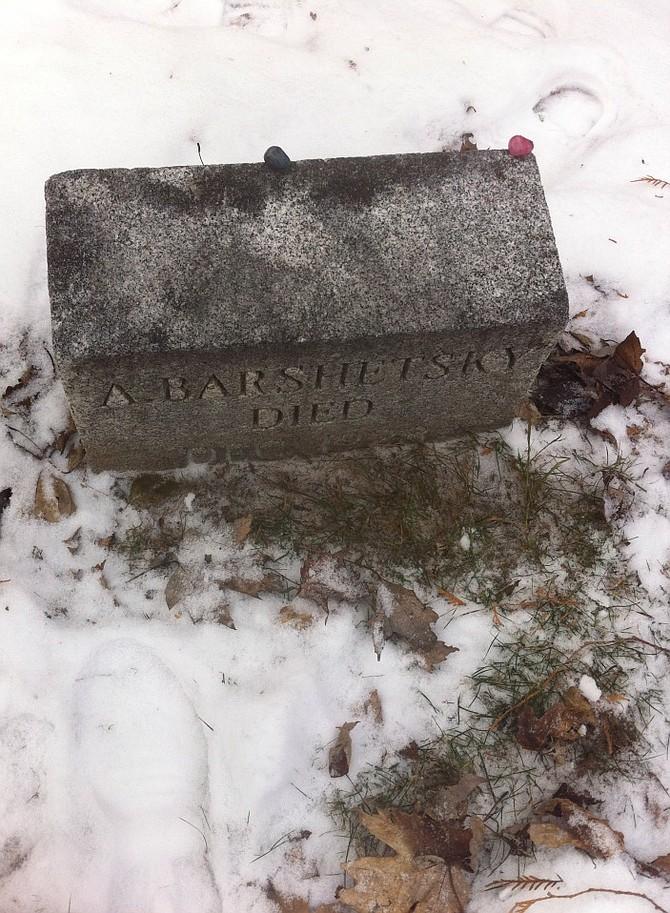 Abraham Barshetsky's tombstone.