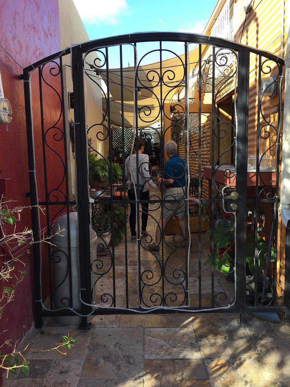 A side patio for those who wish to dine al fresco