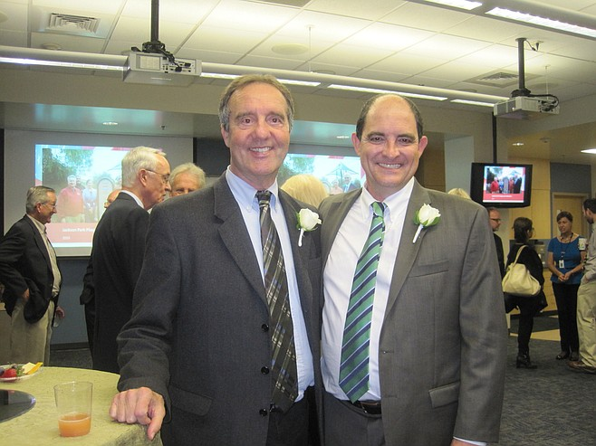 Guy McWhirter and Bill Baber at reception