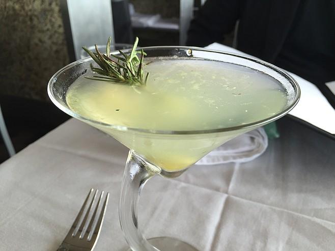 Cucumber Rosemary martini