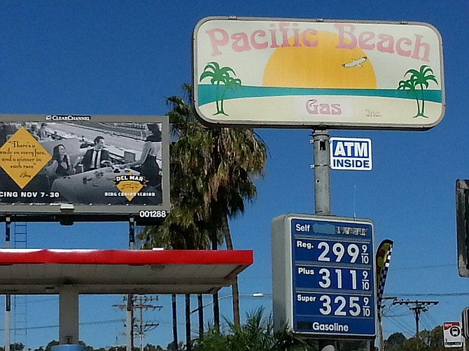 First in the beach area to break the $3/gallon barrier.