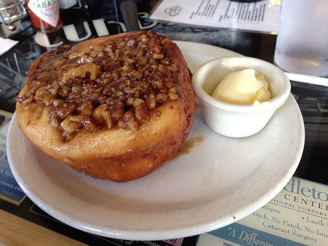 Declared number on in Vista. Still waiting on a contender. Cinnamon Roll. Curbside Café.