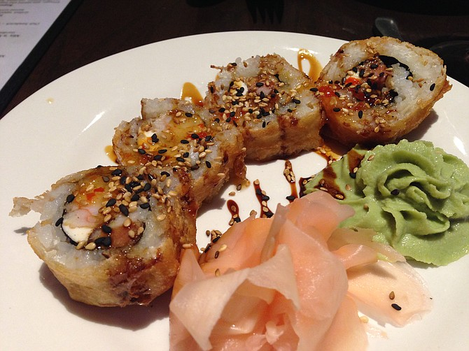 Trifecta roll, the steakhouse-style sushi
