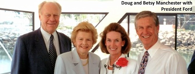 Doug and Betsy Manchester with President Ford