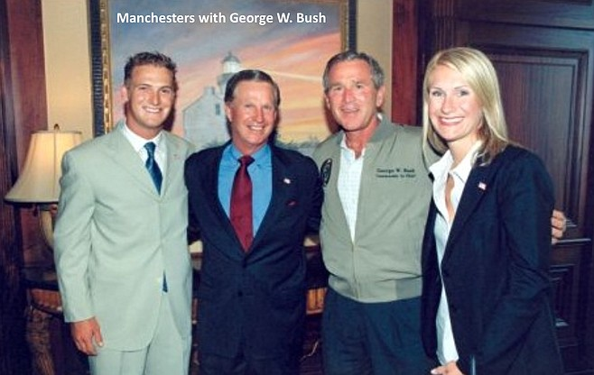 The Manchesters with George W. Bush
