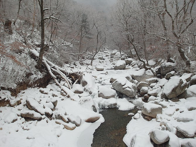 South Korea in the winter.