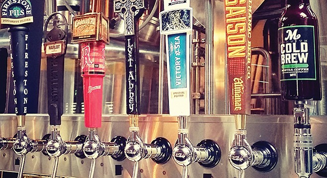 Cold brew coffee is finding a place on tap in a beer town.