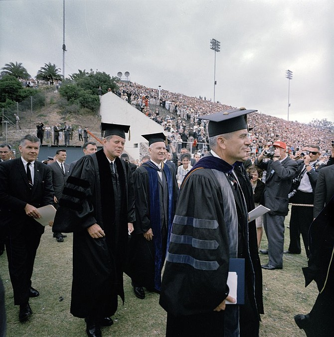 JFK at SDSU commencement