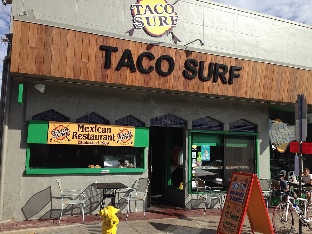 Taco Surf, taco surf. Did you notice the affiliation with surf?