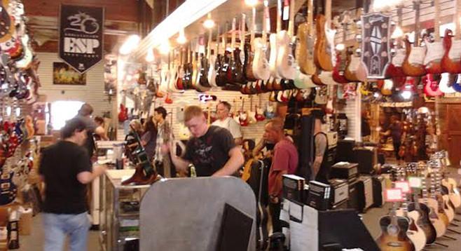 Kearny Mesa guitar mecca Guitar Trader seeking an investor or buyer.