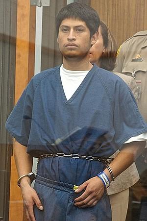 Arturo Salazar in court, June 17, 2013